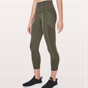 Lululemon All the Right Places Crop 2 Dark Olive
